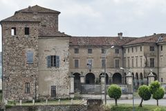 Agazzano Piacenza kasztel Obraz Stock