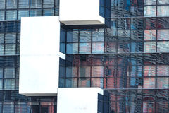 Agbar塔的反射在巴塞罗那 免版税库存照片