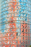 Agbar塔,巴塞罗那,西班牙。 库存图片