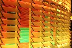 Agbar塔LED黄色和红色 免版税库存照片