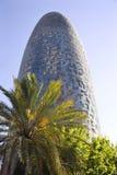 agbar巴塞罗那摩天大楼torre 免版税库存照片