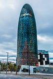 agbar barcelona spain torn Arkivbild