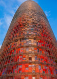 Agbar Colorful Tower. Barcelona, Spain Royalty Free Stock Photo