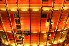 Agbar góruje kolor żółtego i czerwień PROWADZĄCEGO światło szczegół Obrazy Stock