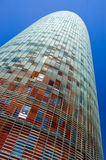 Agbar Kontrollturm, Barcelona Lizenzfreie Stockfotos