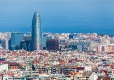 Agbar Kontrollturm Barcelona Spanien Lizenzfreies Stockfoto