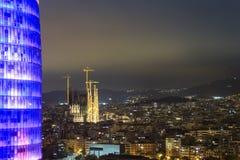 Agbar Sagrada Familia i wierza katedra, Barcelona, Hiszpania Obraz Royalty Free