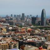 agbar sikt för torn för barcelona fågelöga s Arkivbild