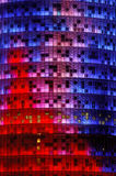 Agbar torn, Barcelona Arkivfoton
