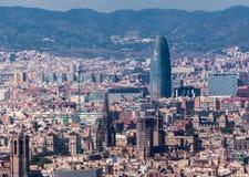 Agbar torn Barcelona Arkivbild