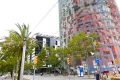 Agbar torn - Barcelona Royaltyfria Bilder