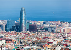 Agbar torn Barcelona Spanien Royaltyfri Foto