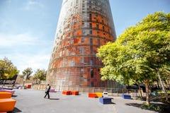 Agbar torn i Barcelona Royaltyfri Bild