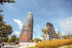 Agbar torn i Barcelona Royaltyfri Foto