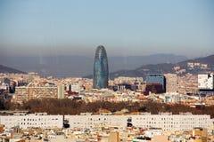 Agbar torn i Barcelona Royaltyfri Fotografi