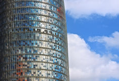 Agbar Tower. Detail Agbar Tower in Barcelona, Spain - modern architecture Royalty Free Stock Photo
