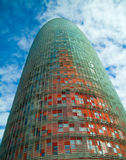 Agbar tower. A modern building in Barcelona Stock Image