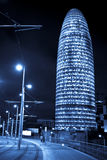 Agbar tower. At night, Barcelona, Spain Stock Photography