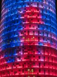 Agbar Tower 7. Agbar Tower in Barcelona, Spain Stock Photo