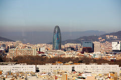 Agbar Tower in Barcelona. Amazing pic Agbar Tower in Barcelona Royalty Free Stock Photography