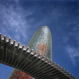 Agbar tower. Barcelona Spain Royalty Free Stock Photo