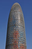 Agbar Tower Barcelona Spain Stock Photos