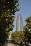 Agbar Tower. At Barcelona, Spain Royalty Free Stock Images