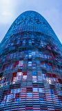 The Agbar Tower, Barcelona, Spain. BARCELONA, SPAIN - DECEMBER 19: Torre Agbar on Technological District on December 19, 2011 in Barcelona, Spain. This 38-storey Stock Photo