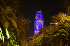 Agbar tower in Barcelona Royalty Free Stock Photo