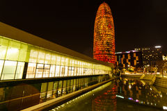 Agbar tower in Barcelona Stock Photo