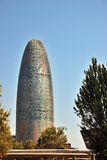 Agbar tower. Barcelona Spain Stock Image
