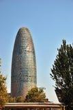 Agbar tower. Barcelona Spain stock image