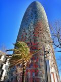 Agbar tower. Barcelona Spain Stock Images