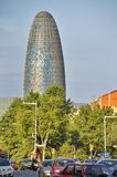 Agbar tower in Barcelona Spain Stock Photos