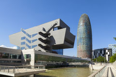 Agbar tower. In the city of barcelona Stock Photography
