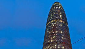 Agbar tower at night, Barcelona, Spain Royalty Free Stock Photo
