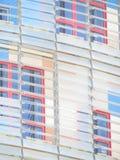 Agbar-Turm ist ein Turm mit 38 Geschossen nahe Piazza Catalunya fragment lizenzfreie stockfotos