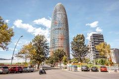 Agbar wierza w Barcelona Obraz Royalty Free