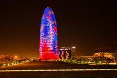 Agbar wierza w Barcelona Fotografia Royalty Free