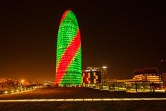 Agbar wierza w Barcelona Zdjęcie Stock