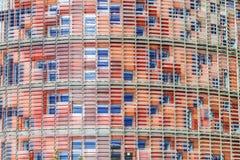 Agbar wierza w Barcelona, czerep Zdjęcie Stock