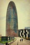 Agbar wierza w Barcelona w Hiszpania Zdjęcia Stock