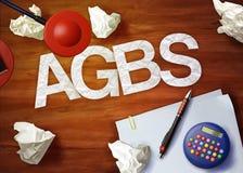 Agbs desktop memo calculator office think organize Royalty Free Stock Image