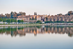 Agdal pond at Meknes, Morocco Royalty Free Stock Images