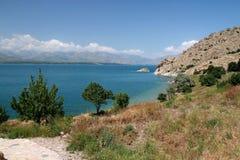 Agdamar меньший остров Стоковое Изображение RF