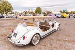 AGDE FRANCJA, WRZESIEŃ, - 9, 2017: Biały odwracalny samochód Obrazy Royalty Free