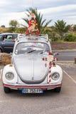 AGDE FRANCJA, WRZESIEŃ, - 9, 2017: Retro samochód na powystawowym Volkswagen Odbitkowa przestrzeń dla teksta pionowo Fotografia Royalty Free