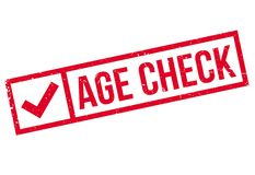Age Check rubber stamp Stock Image
