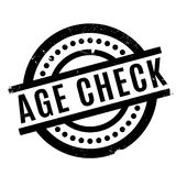 Age Check rubber stamp. Grunge design with dust scratches. Effects can be easily removed for a clean, crisp look. Color is easily changed Royalty Free Illustration
