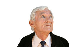 Age is full of thoughts Royalty Free Stock Images